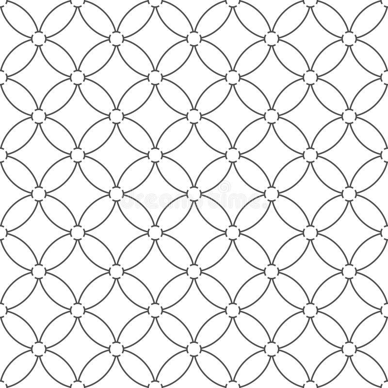 Άνευ ραφής σχέδιο των κυκλικών γραμμών γεωμετρική ταπετσαρία ασυνήθιστος ελεύθερη απεικόνιση δικαιώματος
