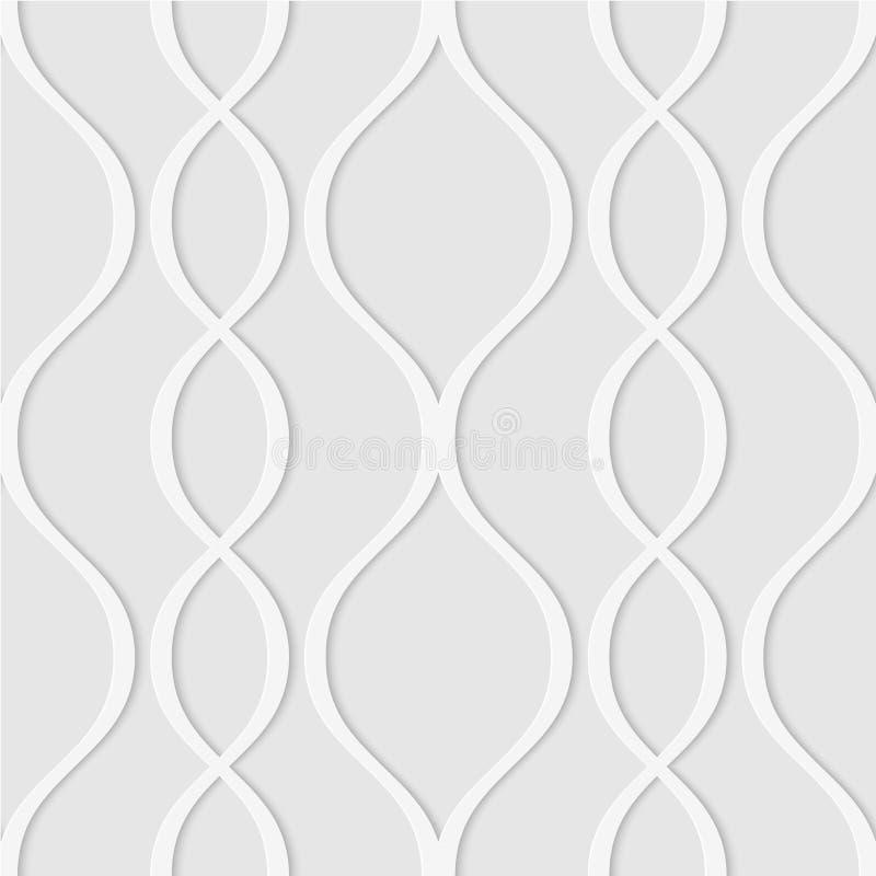 Άνευ ραφής σχέδιο των κυματιστών γραμμών Γεωμετρική ριγωτή ταπετσαρία Unu διανυσματική απεικόνιση