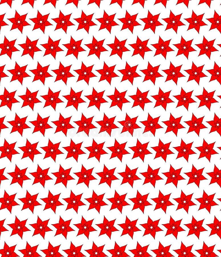 Άνευ ραφής σχέδιο των κόκκινων λουλουδιών στοκ φωτογραφία με δικαίωμα ελεύθερης χρήσης