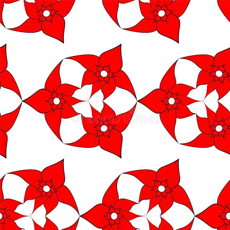 Άνευ ραφής σχέδιο των κόκκινων λουλουδιών στοκ φωτογραφίες