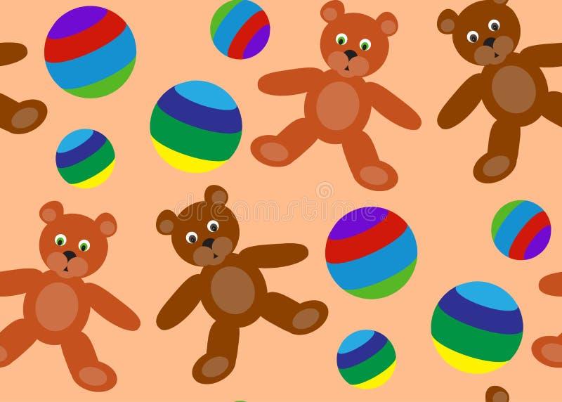 Άνευ ραφής σχέδιο των παιχνιδιών παιδιών ` s ελεύθερη απεικόνιση δικαιώματος