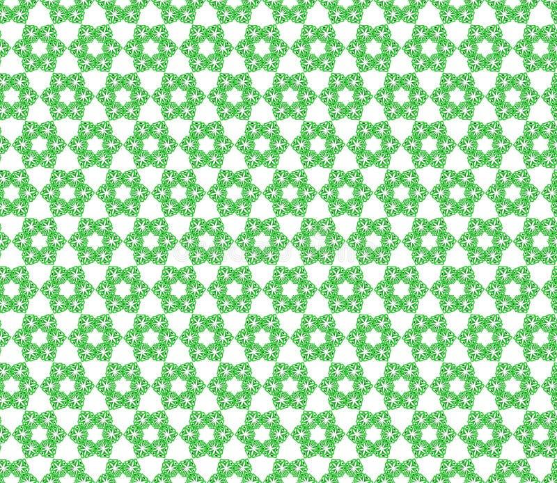 Άνευ ραφής σχέδιο των πράσινων λουλουδιών στοκ φωτογραφία