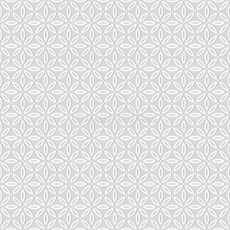 Άνευ ραφής σχέδιο των σημείων και των στρογγυλών μορφών Γεωμετρικός floral τοίχος διανυσματική απεικόνιση
