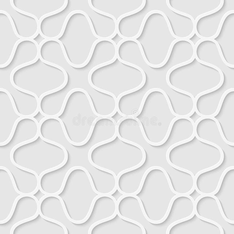 Άνευ ραφής σχέδιο φιαγμένο από κυρτές γραμμές απεικόνιση αποθεμάτων