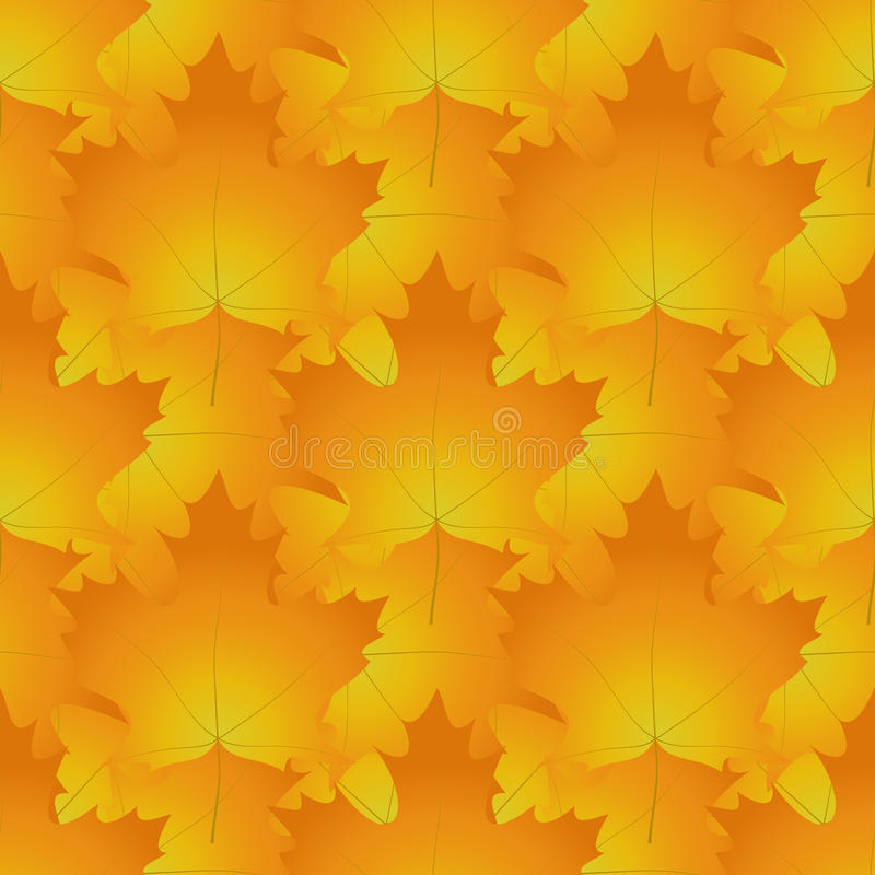 Άνευ ραφής σχέδιο φιαγμένο από κόκκινα και πορτοκαλιά φύλλα σφενδάμου, ο συνταγματάρχης φθινοπώρου απεικόνιση αποθεμάτων