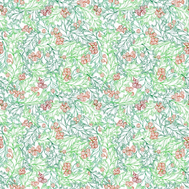 Download Άνευ ραφής σχέδιο Χριστουγέννων Ilex Διανυσματική απεικόνιση - εικονογραφία από διακόσμηση, φύση: 62720130