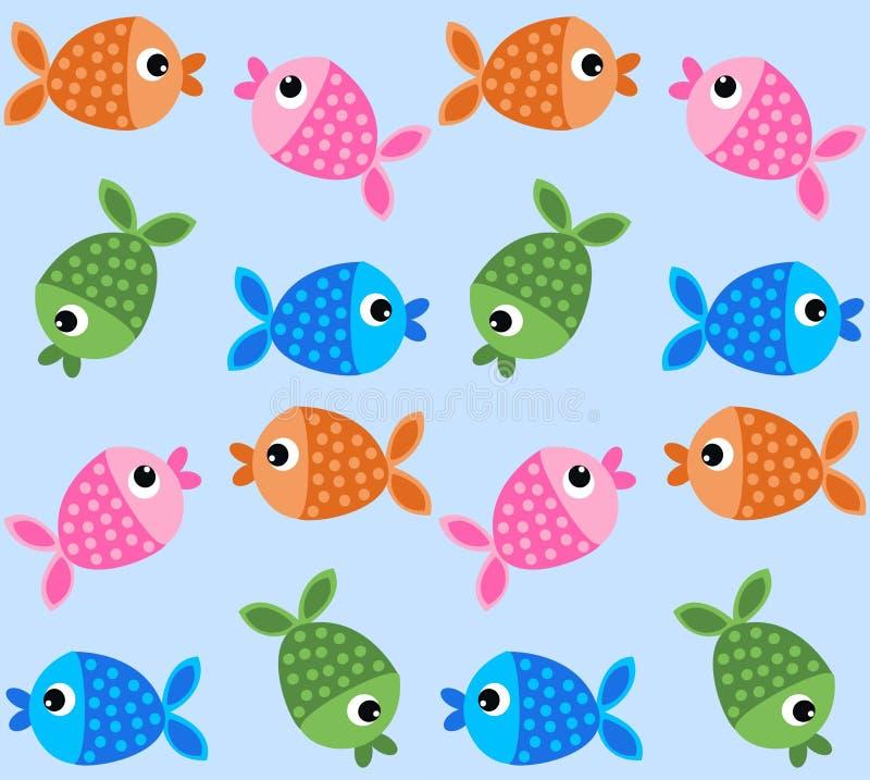 Άνευ ραφής σχέδιο ψαριών ελεύθερη απεικόνιση δικαιώματος