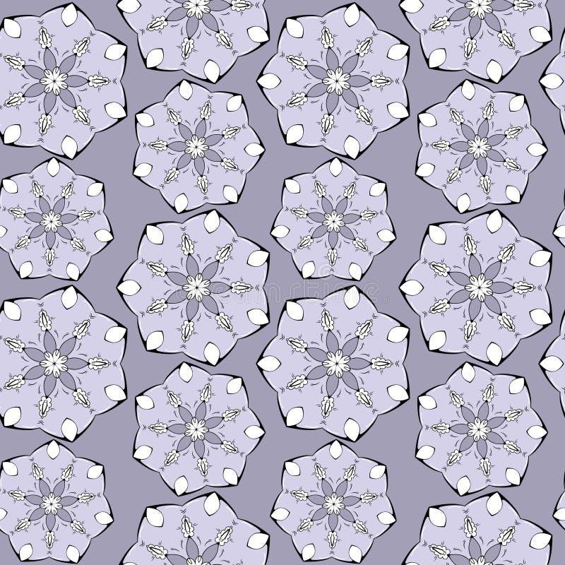 Άνευ ραφής σχέδιο, όμορφο σχέδιο των λουλουδιών ελεύθερη απεικόνιση δικαιώματος