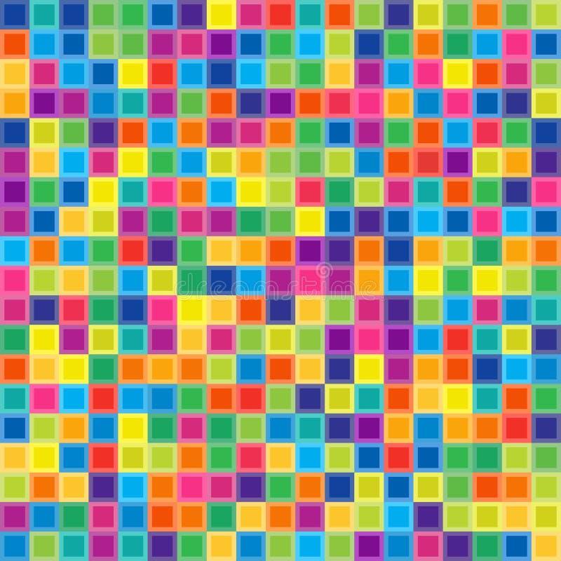 Άνευ ραφής σχέδιο Cololful των συμμετρικών τετραγώνων ελεύθερη απεικόνιση δικαιώματος