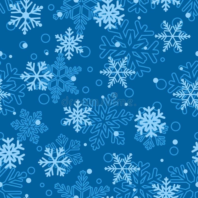 Download Άνευ ραφής σχέδιο Snowflakes, ανοικτό μπλε στο μπλε Διανυσματική απεικόνιση - εικονογραφία από σχέδιο, νέος: 62720346