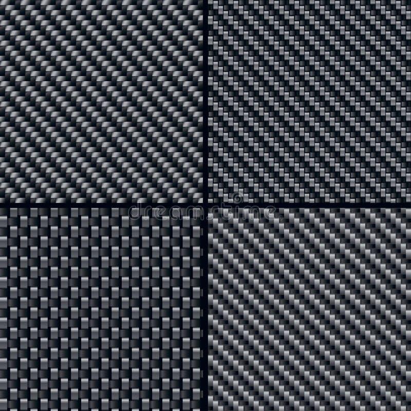 άνευ ραφής σύνολο προτύπων ινών άνθρακα απεικόνιση αποθεμάτων