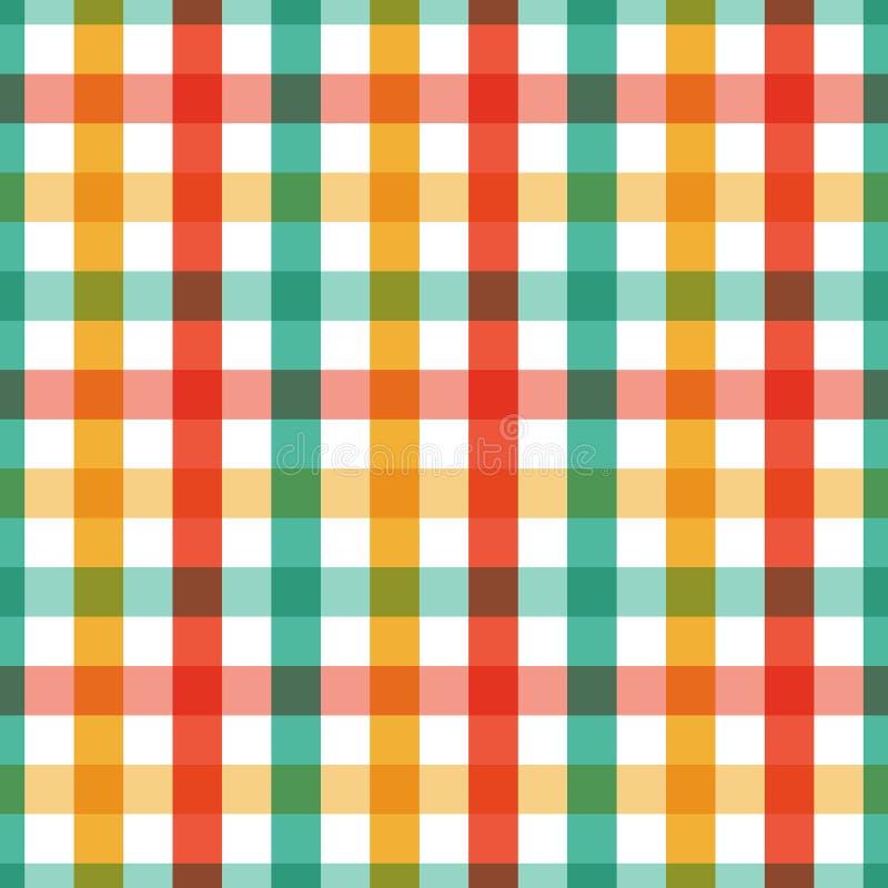 άνευ ραφής σύσταση Γεωμετρικό διανυσματικό κίτρινου, πράσινου και κόκκινου χρώματος ελεγμένο σχέδιο υποβάθρου σχεδίων αφηρημένο γ απεικόνιση αποθεμάτων