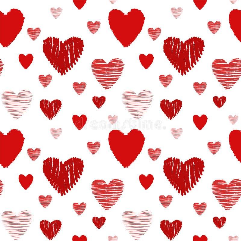 άνευ ραφής σύσταση καρδιών διανυσματική απεικόνιση