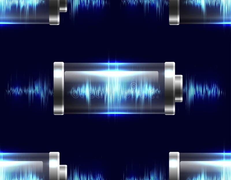 Άνευ ραφής σύσταση με τις μπαταρίες με την ηλεκτρική δαπάνη απεικόνιση αποθεμάτων
