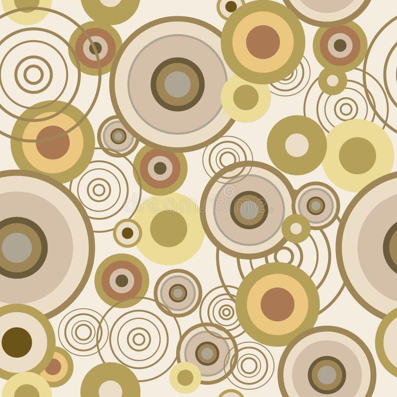 Άνευ ραφής σύσταση με τους ομόκεντρους κύκλους διανυσματική απεικόνιση