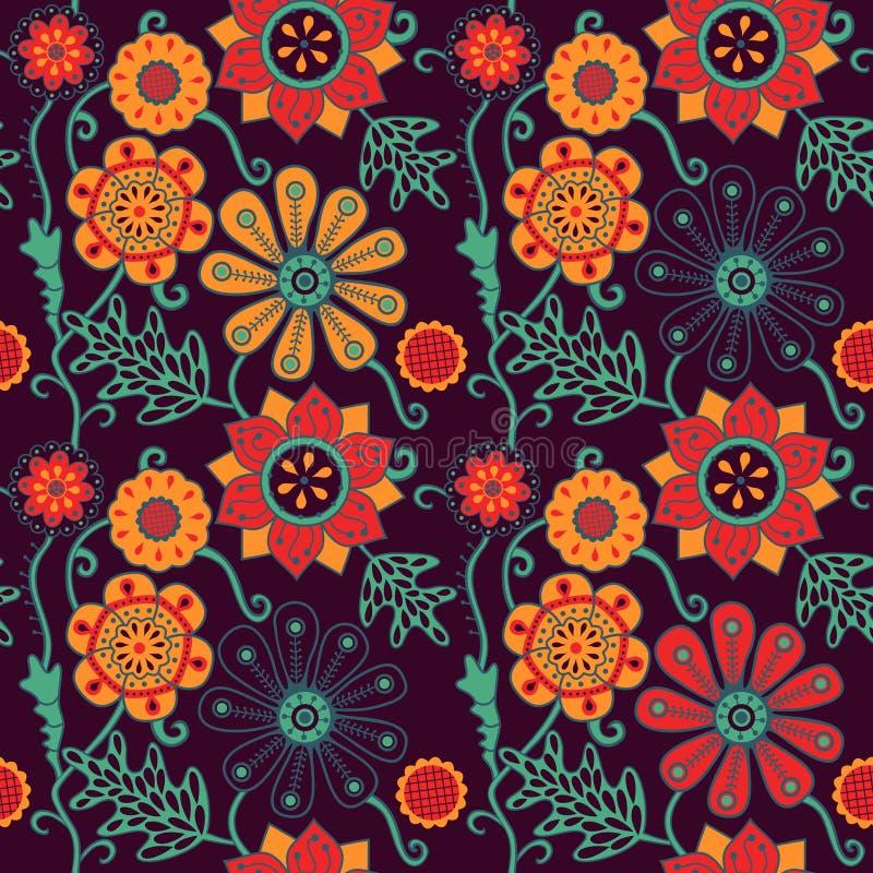 άνευ ραφής σύσταση λουλ&omic Ατελείωτο floral πρότυπο απεικόνιση αποθεμάτων