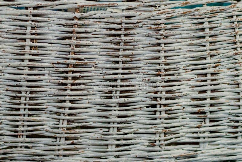 Άνευ ραφής σύσταση της επιφάνειας καλαθιών Υπόβαθρο σχεδίων Ξύλινο καλάθι αχύρου αμπέλων ψάθινο handcraft φυσική λυγαριά σύστασης στοκ εικόνες