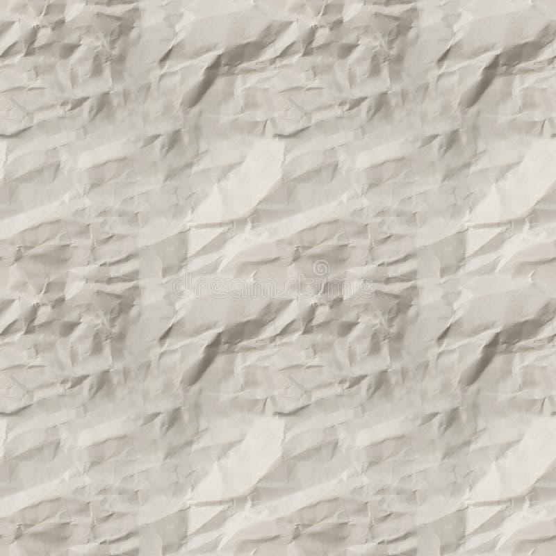 Άνευ ραφής σύσταση του άσπρου τσαλακωμένου εγγράφου στοκ φωτογραφίες με δικαίωμα ελεύθερης χρήσης