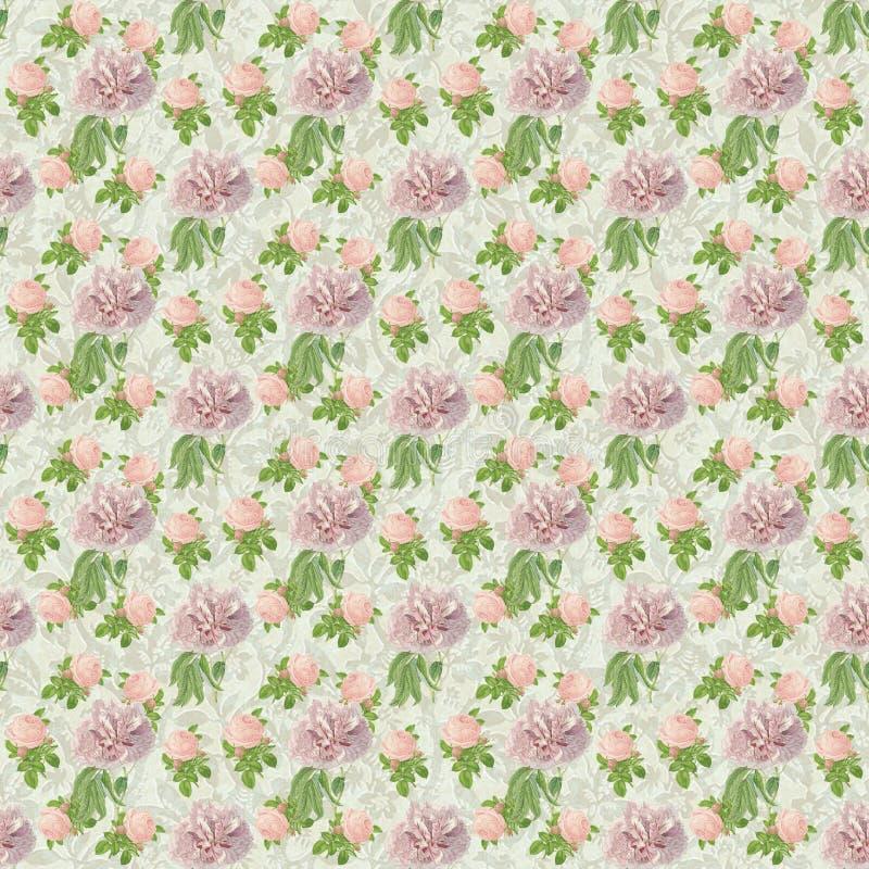 Άνευ ραφής ταπετσαρία εγγράφου σχεδίων λουλουδιών διανυσματική απεικόνιση
