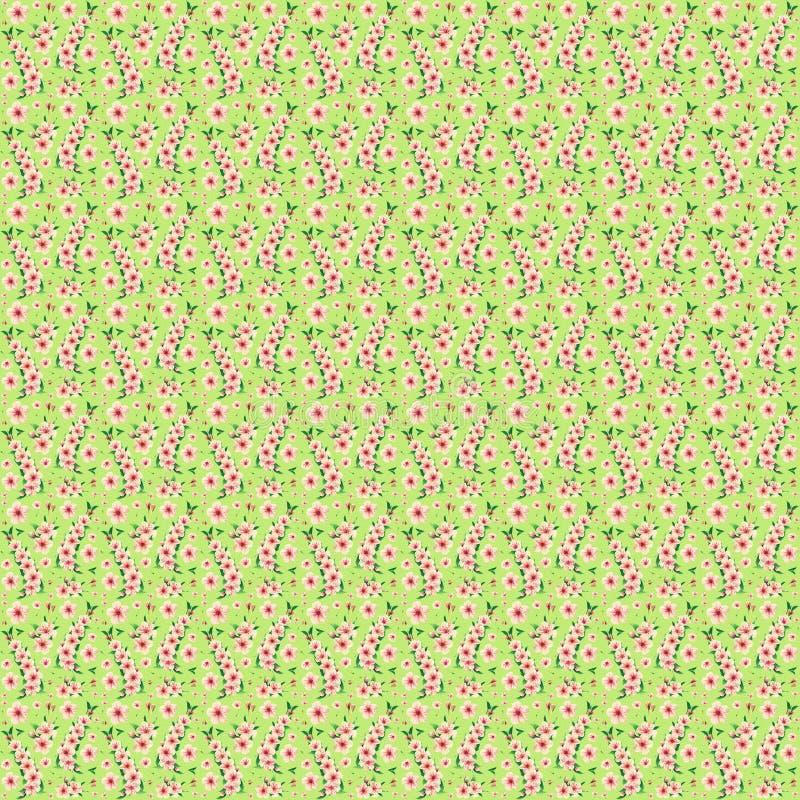 Άνευ ραφής ταπετσαρία σχεδίων λουλουδιών απεικόνιση αποθεμάτων
