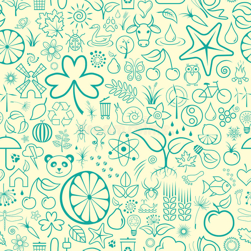 Download άνευ ραφής ταπετσαρία διανυσματική απεικόνιση. εικονογραφία από φύση - 13178053