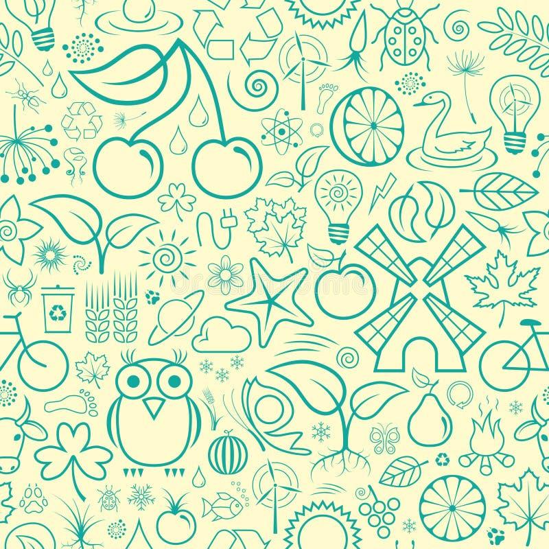 Download άνευ ραφής ταπετσαρία διανυσματική απεικόνιση. εικονογραφία από χλόη - 13178091