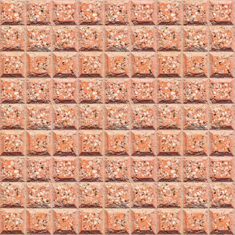 Άνευ ραφής τετραγωνική σύσταση των κεραμιδιών επίστρωσης τερακότας Άνευ ραφής σχέδιο για το πάτωμα, πεζοδρόμιο, πορείες περπατήμα στοκ φωτογραφία