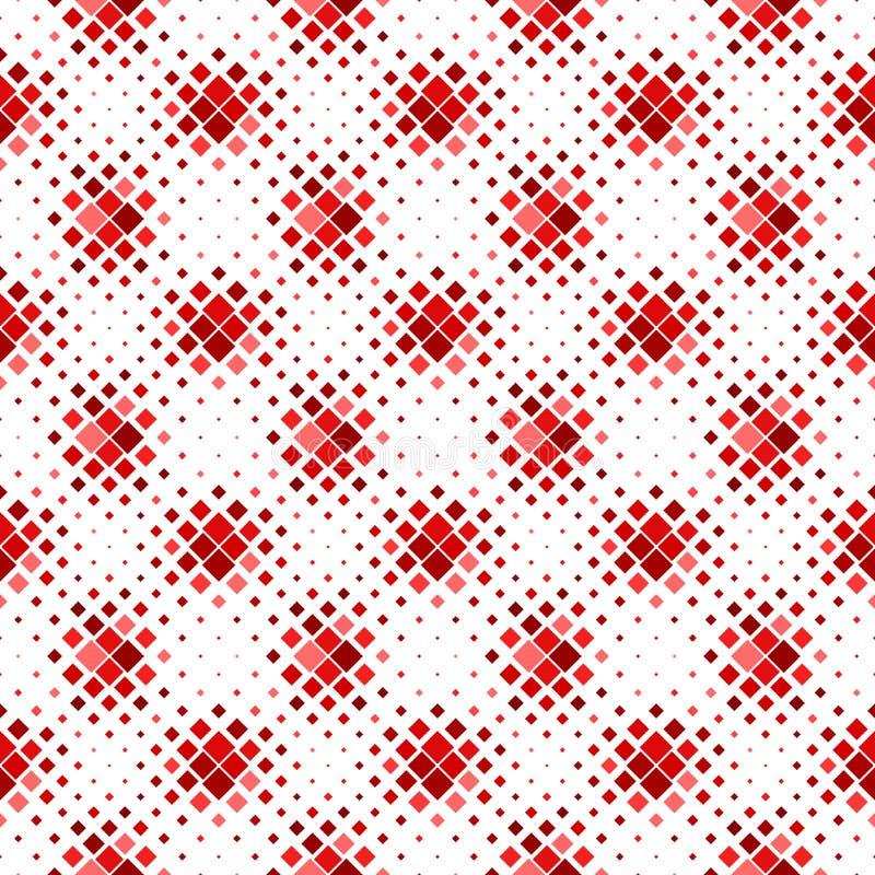 Άνευ ραφής τετραγωνικό υπόβαθρο σχεδίων - σκούρο κόκκινο αφηρημένο διανυσματικό σχέδιο ελεύθερη απεικόνιση δικαιώματος