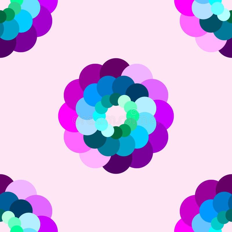 Άνευ ραφής του ζωηρόχρωμου αφηρημένου σχεδίου λουλουδιών διανυσματική απεικόνιση