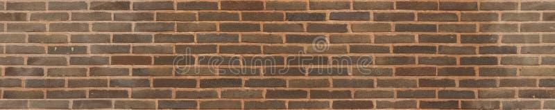 Άνευ ραφής τρέχοντας σύσταση τούβλου δεσμών καφετιά στοκ φωτογραφία