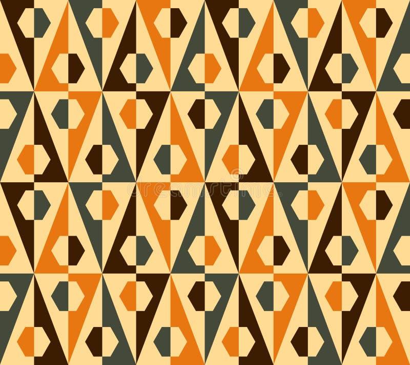 Άνευ ραφής τρίγωνο και hexagon πρότυπο. Διάνυσμα απεικόνιση αποθεμάτων