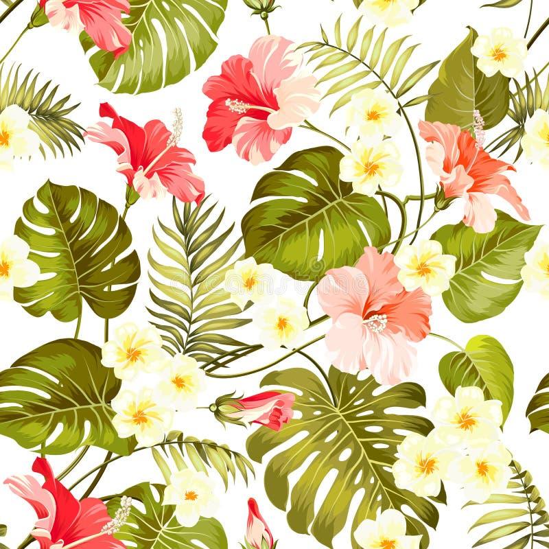 Άνευ ραφής τροπικό λουλούδι ελεύθερη απεικόνιση δικαιώματος