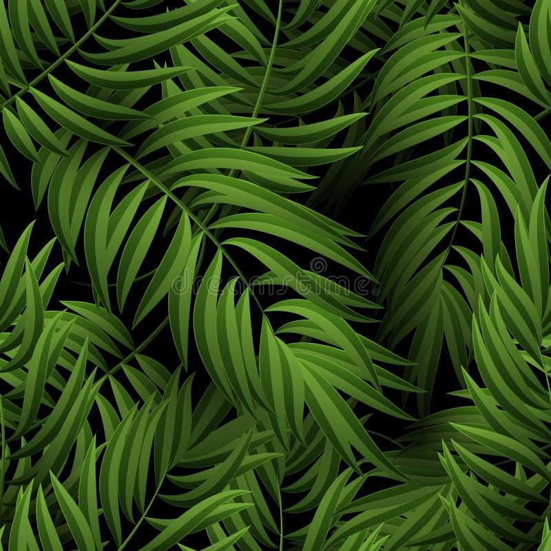 Άνευ ραφής τροπικό floral σχέδιο ζουγκλών με τα φύλλα φοινικών απεικόνιση ελεύθερη απεικόνιση δικαιώματος