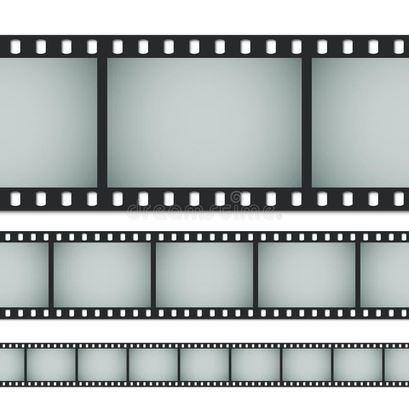 Άνευ ραφής τυποποιημένη ταινία φωτογραφιών 35mm διανυσματική απεικόνιση