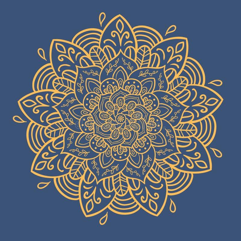 άνευ ραφής τόνοι προτύπων mandala φύλλων απεικόνισης λουλουδιών πράσινοι ελεύθερη απεικόνιση δικαιώματος