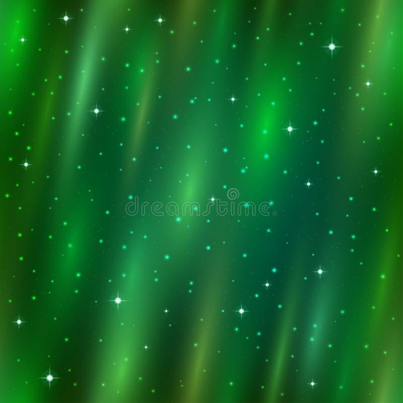 Άνευ ραφής υπόβαθρο, αυγή Borealis διανυσματική απεικόνιση