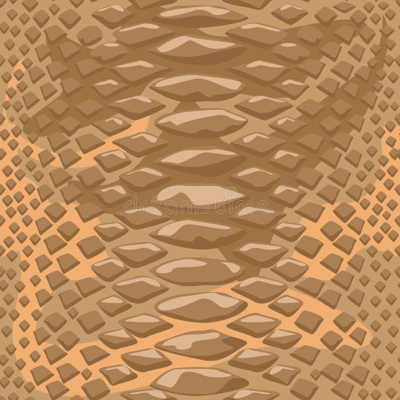 Άνευ ραφής υπόβαθρο δερμάτων φιδιών Επίπεδη και στερεά διανυσματική απεικόνιση ύφους χρώματος απεικόνιση αποθεμάτων
