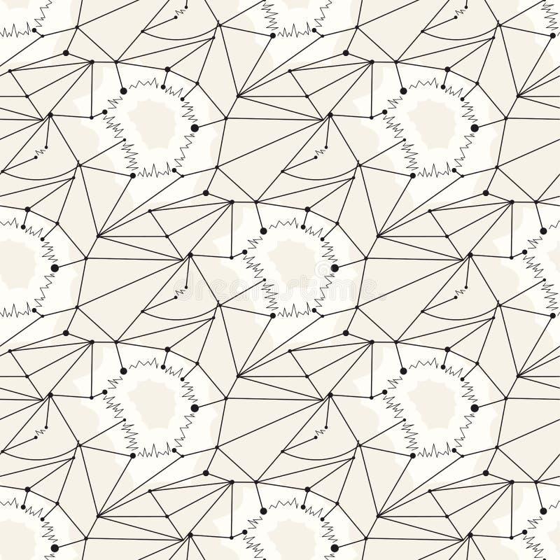 Άνευ ραφής υπόβαθρο κεραμιδιών σχεδίων γραμμών γεωμετρικό ελεύθερη απεικόνιση δικαιώματος