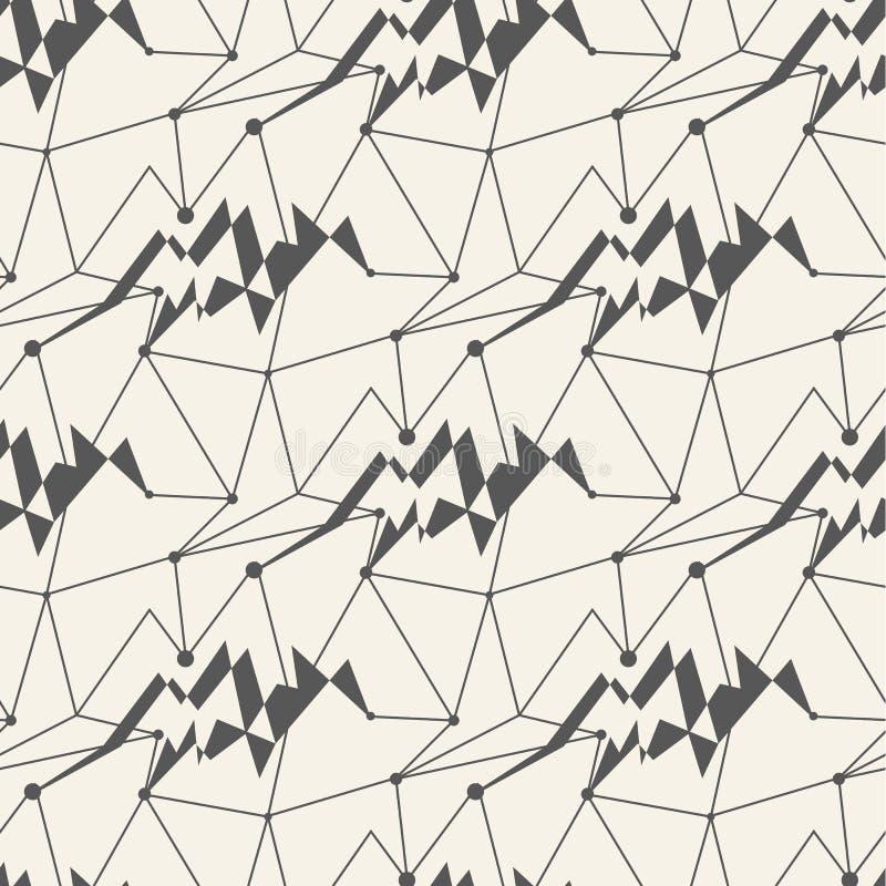 Άνευ ραφής υπόβαθρο κεραμιδιών σχεδίων γραμμών γεωμετρικό απεικόνιση αποθεμάτων