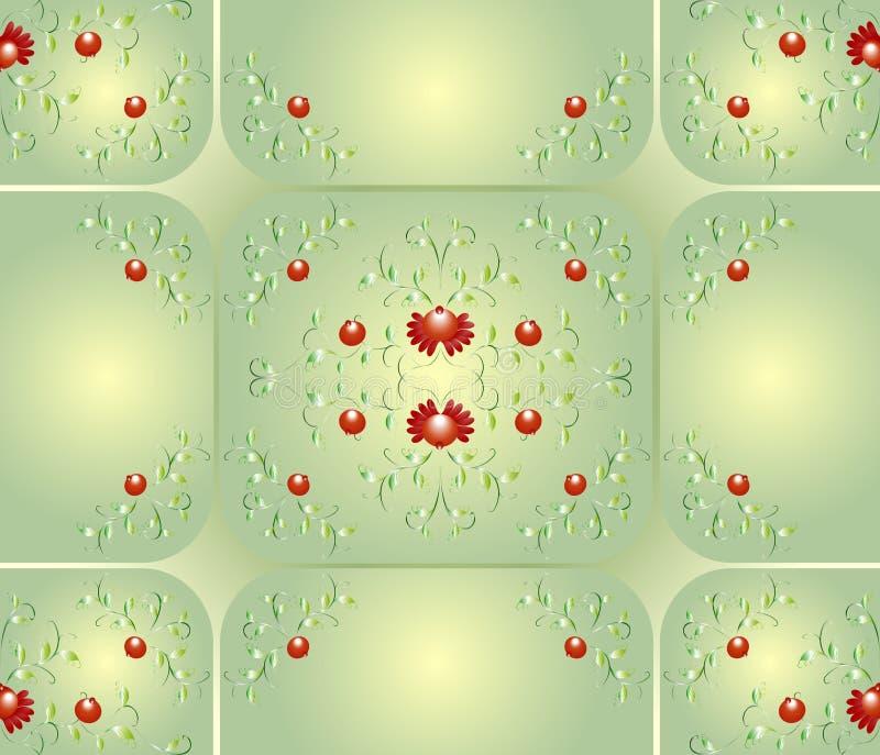 Άνευ ραφής υπόβαθρο με τα σχέδια των λουλουδιών γραφική απεικόνιση πυροτεχνημάτων eps10 ανασκόπησης μαύρη απεικόνιση αποθεμάτων