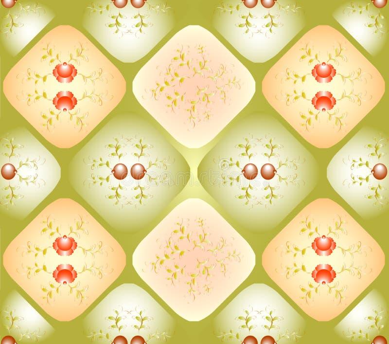 Άνευ ραφής υπόβαθρο με τα σχέδια στα rhombuses ελεύθερη απεικόνιση δικαιώματος