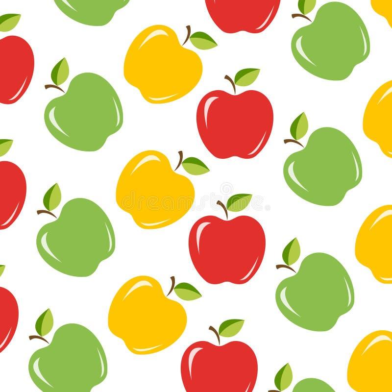 Άνευ ραφής υπόβαθρο με τα juicy μήλα ελεύθερη απεικόνιση δικαιώματος