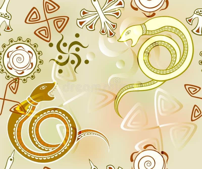 Άνευ ραφής υπόβαθρο με τους δράκους EPS10 διανυσματική απεικόνιση ελεύθερη απεικόνιση δικαιώματος