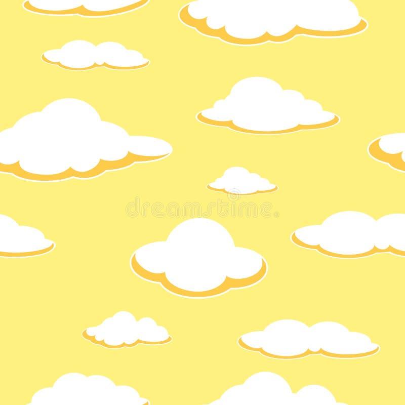 Άνευ ραφής υπόβαθρο ουρανού Άνευ ραφής υπόβαθρο σύννεφων απογευμάτων πορτοκάλι σύννεφων απεικόνιση αποθεμάτων
