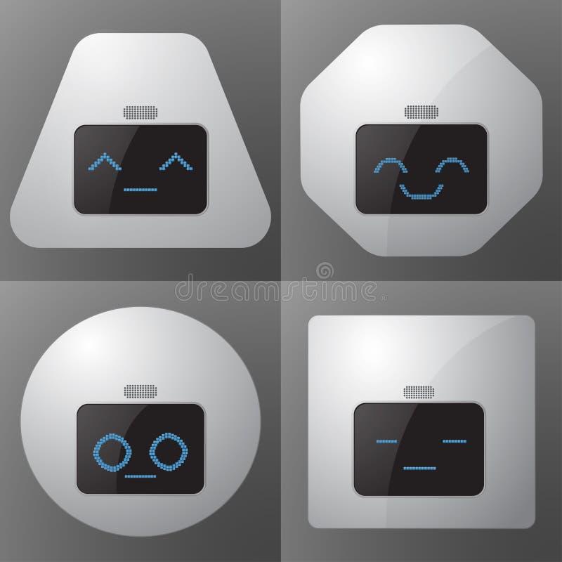 Άνευ ραφής υπόβαθρο ρομπότ επίσης corel σύρετε το διάνυσμα απεικόνισης απεικόνιση αποθεμάτων