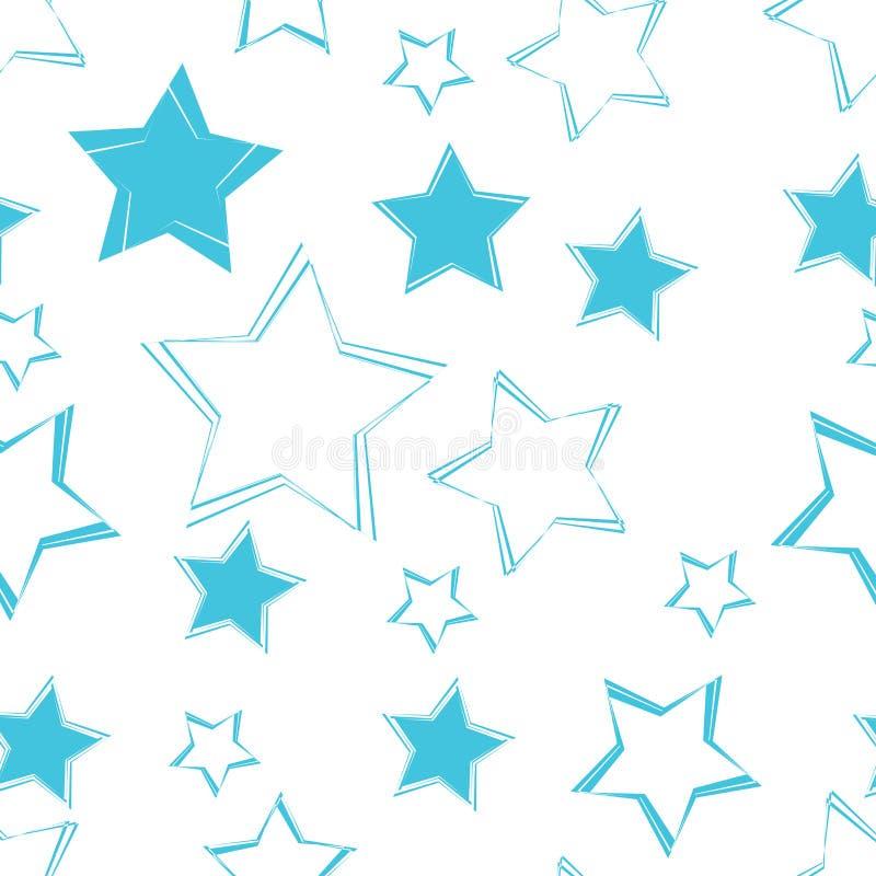 Άνευ ραφής υπόβαθρο σχεδίων αστεριών διανυσματική απεικόνιση