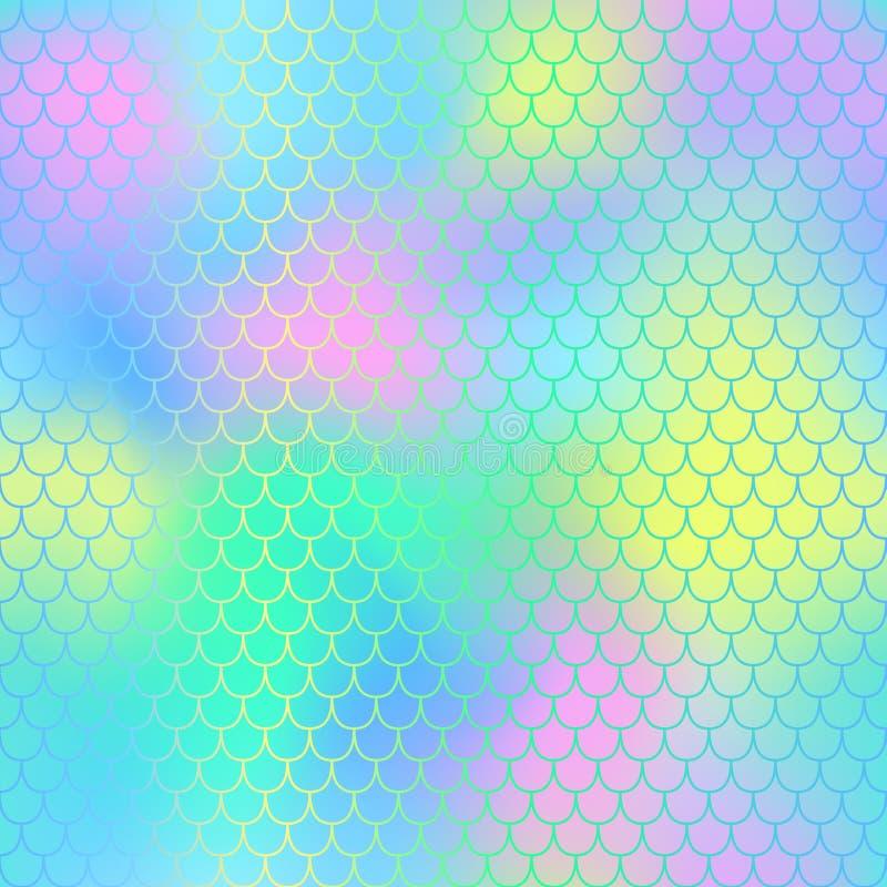 Άνευ ραφής υπόβαθρο σχεδίων γοργόνων Ουρά γοργόνων με το fishscale για το σχέδιο packagingsurface ελεύθερη απεικόνιση δικαιώματος