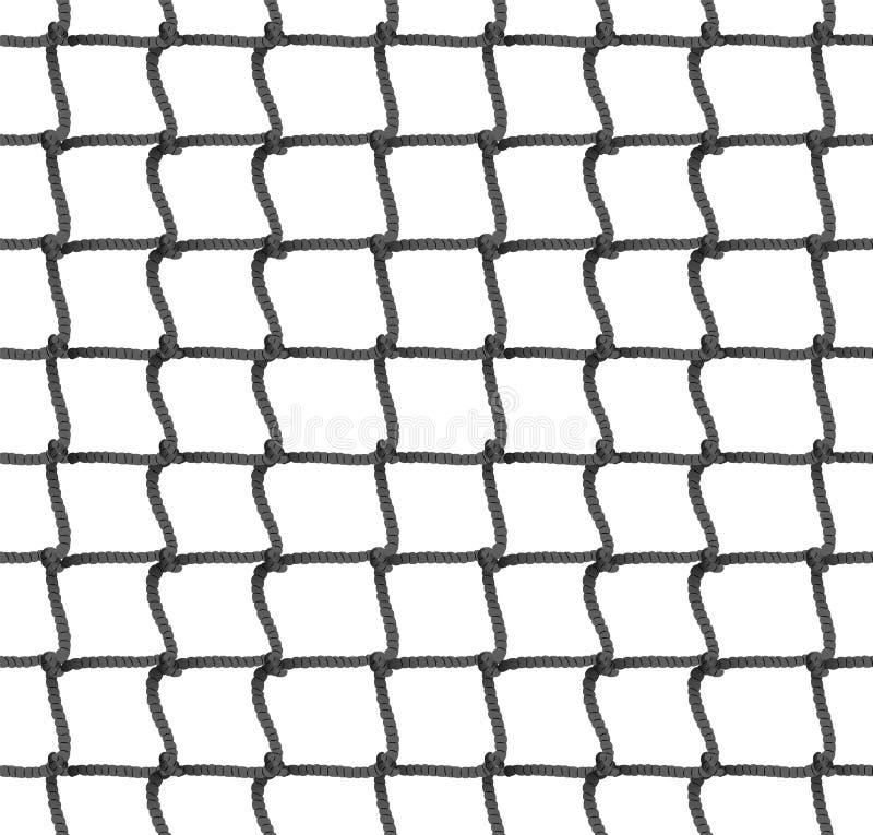 Άνευ ραφής υπόβαθρο σχεδίων δικτύου αντισφαίρισης επίσης corel σύρετε το διάνυσμα απεικόνισης Καθαρή σκιαγραφία σχοινιών Ποδόσφαι διανυσματική απεικόνιση