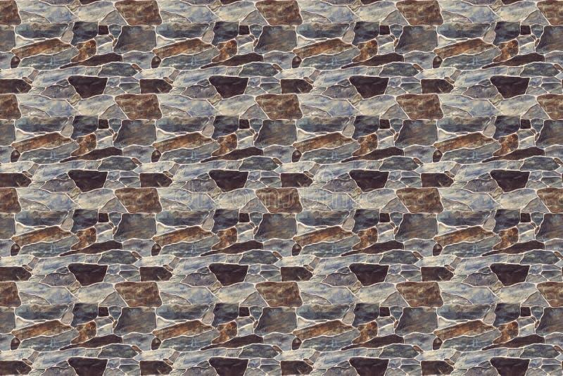 άνευ ραφής υπόβαθρο σύστασης τοίχων πετρών λίθων κατασκευασμένος τοίχος τελειώστε το φράκτη με έναν βράχο στοκ φωτογραφίες με δικαίωμα ελεύθερης χρήσης