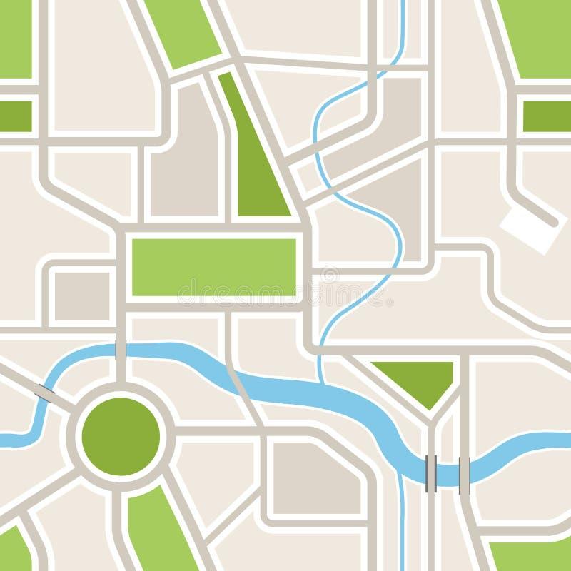 Άνευ ραφής υπόβαθρο του χάρτη πόλεων απεικόνιση αποθεμάτων
